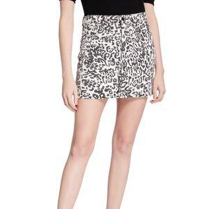 Hudson NWT 30 WLEO Animal Print Viper Mini Skirt